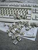 バラバラのキーボード
